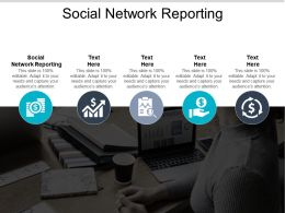 Social Network Reporting Ppt Powerpoint Presentation Gallery Guide Cpb