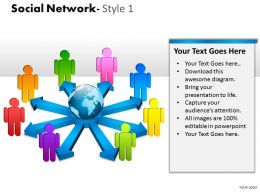 Social Network Style 1 diagram 5