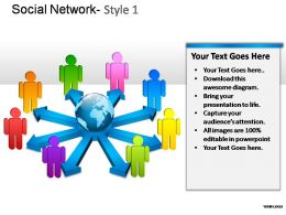 Social Network Style 1 Powerpoint Presentation Slides