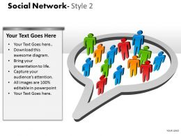 Social Network Style 2 diagram 6