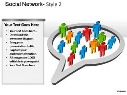 Social Network Style 2 Powerpoint Presentation Slides