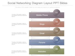 Social Networking Diagram Layout Ppt Slides