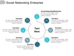 Social Networking Enterprise Ppt Powerpoint Presentation Show Icons Cpb