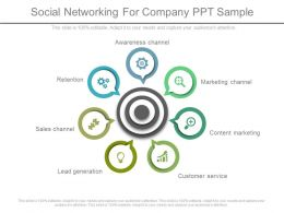 Social Networking For Company Ppt Sample