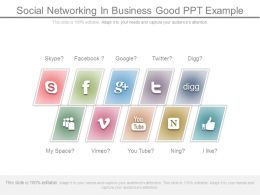 Social Networking In Business Good Ppt Example