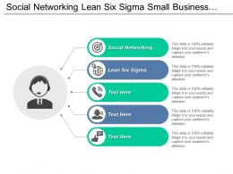Social Networking Lean Six Sigma Small Business Financing Cpb