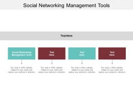 Social Networking Management Tools Ppt Powerpoint Presentation Infographic Template Brochure Cpb
