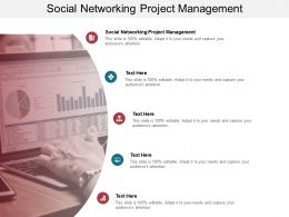 Social Networking Project Management Ppt Powerpoint Presentation Infographic Template Show Cpb