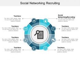 Social Networking Recruiting Ppt Powerpoint Presentation Diagram Graph Charts Cpb