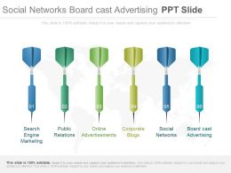 Social Networks Board Cast Advertising Ppt Slide