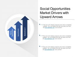 Social Opportunities Market Drivers With Upward Arrows