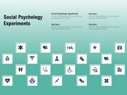Social Psychology Experiments Ppt Powerpoint Presentation Infographic Template