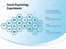 Social Psychology Experiments Ppt Powerpoint Presentation Outline Show
