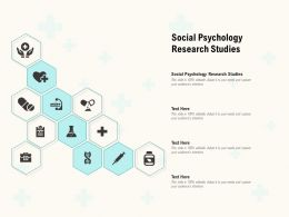 Social Psychology Research Studies Ppt Powerpoint Presentation Infographics Background Designs