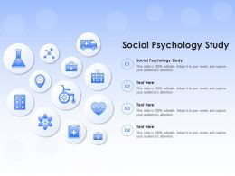 Social Psychology Study Ppt Powerpoint Presentation Ideas Example