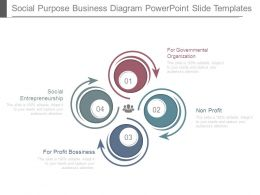 Social Purpose Business Diagram Powerpoint Slide Templates