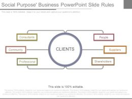 Social Purpose Business Powerpoint Slide Rules