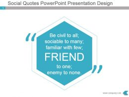 Social Quotes Powerpoint Presentation Design