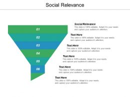 Social Relevance Ppt Powerpoint Presentation Ideas Samples Cpb
