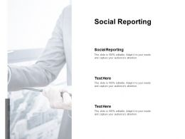 Social Reporting Ppt Powerpoint Presentation Summary Samples Cpb