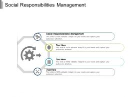 Social Responsibilities Management Ppt Powerpoint Presentation Infographic Template Clipart Images Cpb