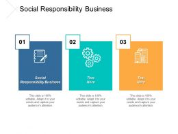 Social Responsibility Business Ppt Powerpoint Presentation Icon Slides Cpb