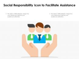 Social Responsibility Icon To Facilitate Assistance