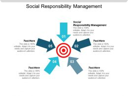 Social Responsibility Management Ppt Powerpoint Presentation Show Layout Ideas Cpb