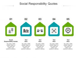 Social Responsibility Quotes Ppt Powerpoint Presentation Icon Format Cpb