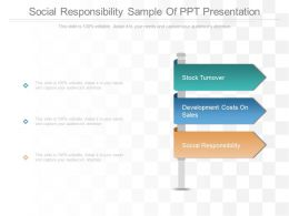 Social Responsibility Sample Of Ppt Presentation