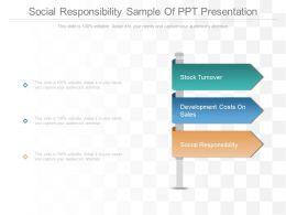 Social Responsibility Sample Of Ppt Presentation