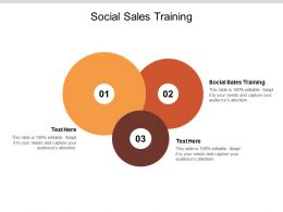 Social Sales Training Ppt Powerpoint Presentation Outline Mockup Cpb