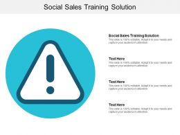 Social Sales Training Solution Ppt Powerpoint Presentation Infographic Template Portfolio Cpb