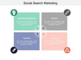 Social Search Marketing Ppt Powerpoint Presentation Gallery Microsoft Cpb