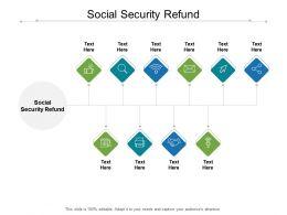Social Security Refund Ppt Powerpoint Presentation Portfolio Slides Cpb