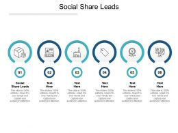 Social Share Leads Ppt Powerpoint Presentation Portfolio Grid Cpb