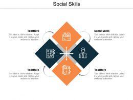 Social Skills Ppt Powerpoint Presentation Styles Summary Cpb