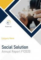 Social Solution Annual Report Template PDF DOC PPT Document Report Template