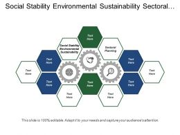 Social Stability Environmental Sustainability Sectoral Planning Spatial Planning