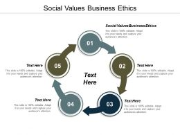 Social Values Business Ethics Ppt Powerpoint Presentation Gallery Guidelines Cpb