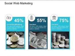 Social Web Marketing Ppt Powerpoint Presentation Ideas Clipart Cpb