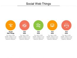 Social Web Things Ppt Powerpoint Presentation Inspiration Example Topics Cpb