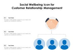 Social Wellbeing Icon For Customer Relationship Management