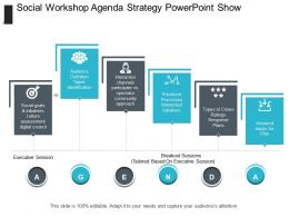 Social Workshop Agenda Strategy Powerpoint Show