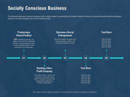 Socially Conscious Business Social Entrepreneur Ppt Powerpoint Presentation Outline Vector