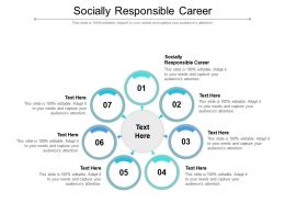 Socially Responsible Career Ppt Powerpoint Presentation Gallery Cpb