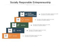 Socially Responsible Entrepreneurship Ppt Powerpoint Presentation Infographics Templates Cpb