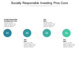 Socially Responsible Investing Pros Cons Ppt Powerpoint Presentation Professional Graphic Tips Cpb