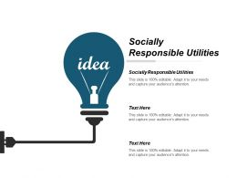 Socially Responsible Utilities Ppt Powerpoint Presentation Gallery Example Cpb