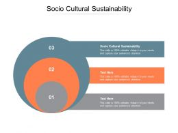 Socio Cultural Sustainability Ppt Powerpoint Presentation Slides Graphics Download Cpb